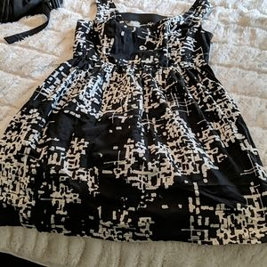 Adorable Black and Ivory Dress